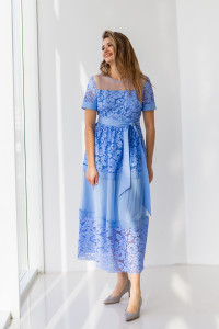 Платье «Ларин» синего цвета