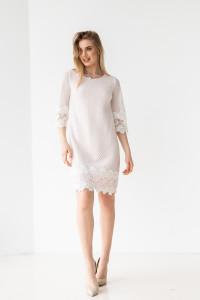 Сукня «Юзефа» біло-рожевого кольору