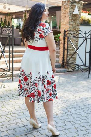 Сукня «Марсель» білого кольору з маками