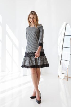 Платье «Анеллин» черно-белого цвета