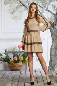 Платье «Сесиль» бежевого цвета
