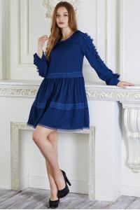 Платье «Сесиль» темно-синего цвета