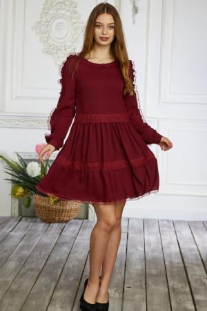 Сукня «Сесіль» бордового кольору