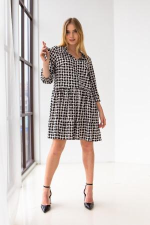 Сукня «Байрон» чорно-білого кольору