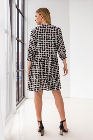 Платье «Байрон» черно-белого цвета