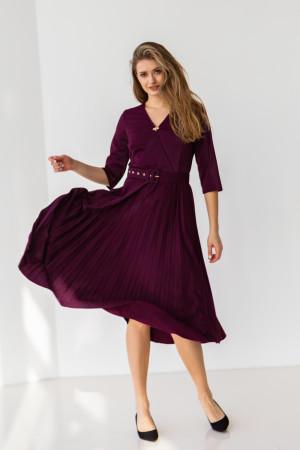 Платье «Бриана» цвета марсала