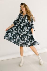 Платье «Ивона» темно-синего цвета