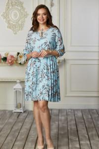 Платье «Ивона» голубого цвета