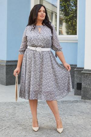 Сукня «Юлія» сірого кольору з квітковим принтом