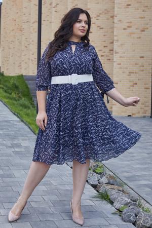 Сукня «Юлія» синього кольору з квітковим принтом