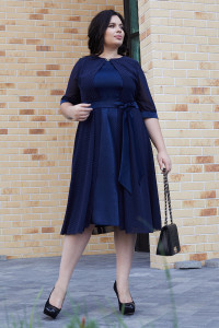 Платье «Алекса» синего цвета