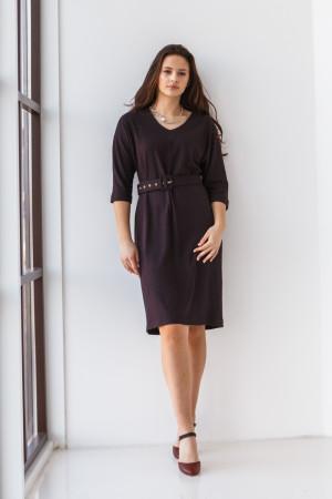 Платье «Жаклин» цвета баклажан