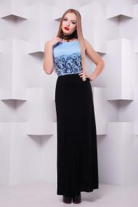 Платье «Бомонта» голубого цвета