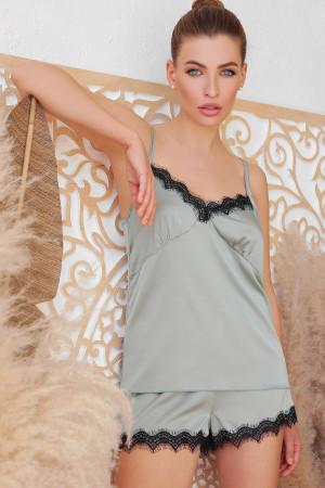 Пижамная майка «Шайлин» оливкового цвета