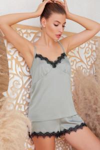 Піжамні шорти «Шайлін» оливкового кольору