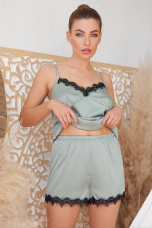 Пижамные шорты «Шайлин» оливкового цвета