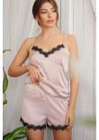 Піжамні шорти «Шайлін» кольору пудри