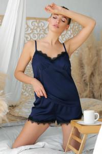 Пижамные шорты «Шайлин» синего цвета