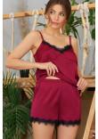Піжамні шорти «Шайлін» кольору бордо