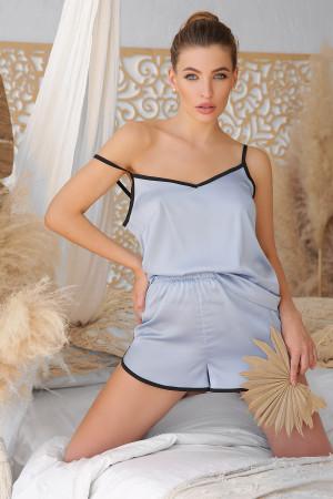Пижамная майка «Шелби» серо-голубого цвета