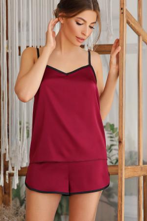 Пижамная майка «Шелби» цвета бордо
