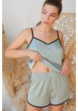Піжамні шорти «Шелбі» оливкового кольору