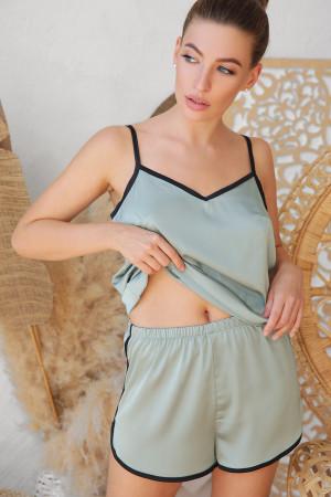 Пижамные шорты «Шелби» оливкового цвета