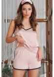 Піжамні шорти «Шелбі» кольору пудри