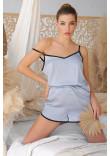 Піжамні шорти «Шелбі» сіро-блакитного кольору