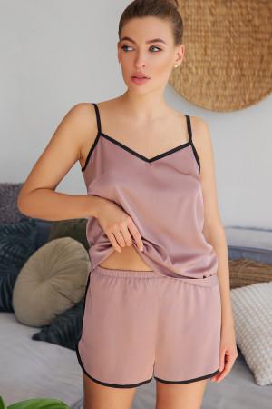 Пижамные шорты «Шелби» темно-лилового цвета