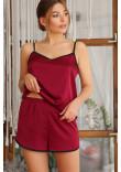 Піжамні шорти «Шелбі» кольору бордо