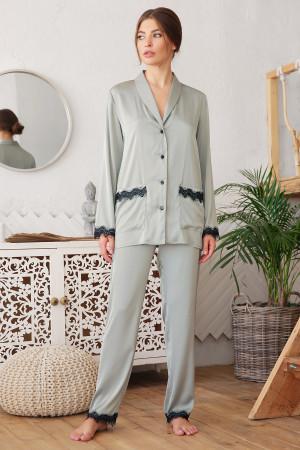 Піжамна сорочка «Долорес» оливкового кольору
