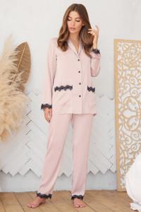 Пижамная рубашка «Долорес» цвета пудры