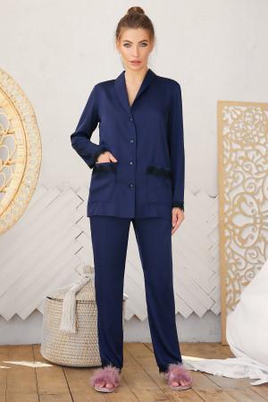 Піжамна сорочка «Долорес» синього кольору