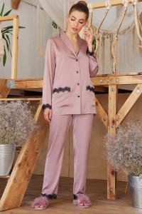 Пижамная рубашка «Долорес» темно-лилового цвета