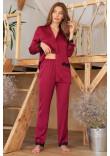 Піжамна сорочка «Долорес» кольору бордо