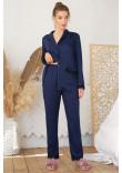 Піжамні штани «Долорес» синього кольору