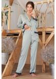 Піжамні штани «Долорес» оливкового кольору