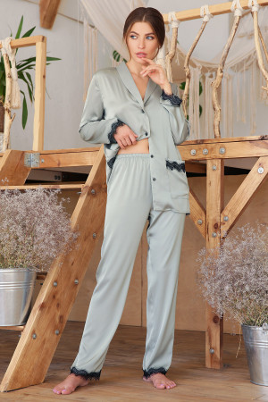 Пижамные штаны «Долорес» оливкового цвета