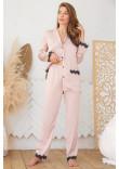 Піжамні штани «Долорес» кольору пудри