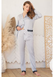 Піжамні штани «Долорес» сіро-блакитного кольору