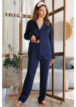 Піжамна сорочка «Зоряна» синього кольору