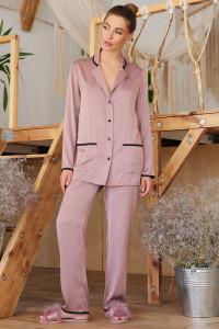 Пижамная рубашка «Зоряна» темно-лилового цвета