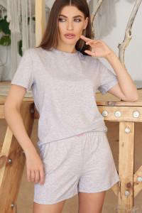 Пижама «Джой-2» серого цвета с сердечками
