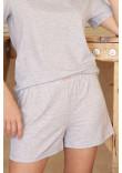 Піжама «Джой-2» сірого кольору з серденьками