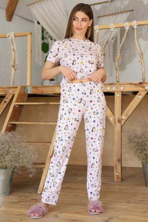 Пижама «Джойс» розового цвета с единорогами