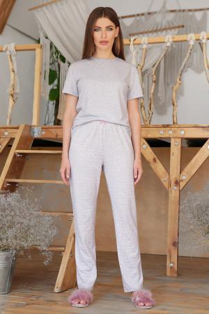 Пижама «Джойс-2» серого цвета с сердечками