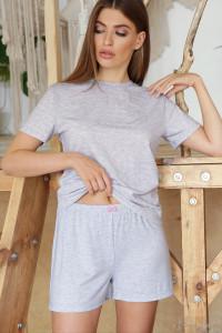 Піжама «Джой-1» сірого кольору з серденьками