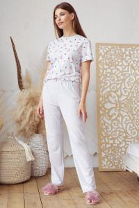Пижама «Джойс-1» серого цвета с фламинго