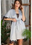 Халат «Іліна» сіро-блакитного кольору
